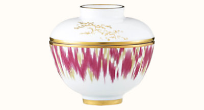 Voyage en Ikat bowl with lid, small model