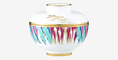 Voyage en Ikat bowl with lid, medium model -