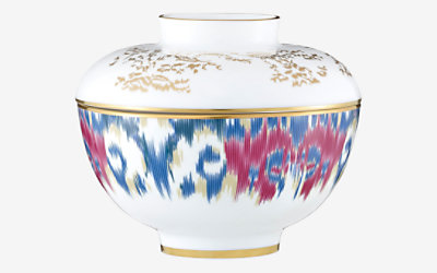 Voyage en Ikat bowl with lid, large model -