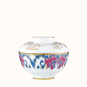 Voyage en Ikat bowl with lid, large model