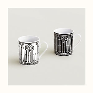 H Deco set of 2 mugs