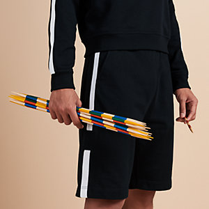 Bicolor ribbed jogging shorts