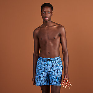 """Labyrinthe Equestre"" swim trunks"