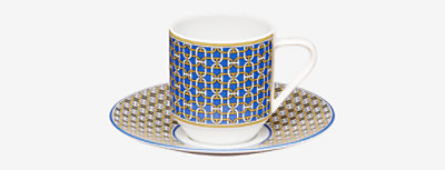 Tie-Set coffee cup and saucer -