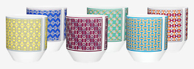 Tie Set set of 6 tumblers -