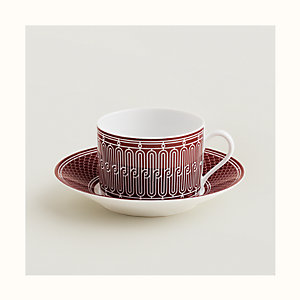 H Deco rouge breakfast cup and saucer