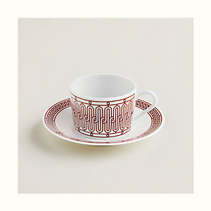 H Deco rouge tea cup and saucer