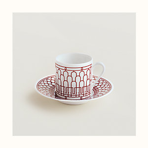 H Deco rouge coffee cup and saucer