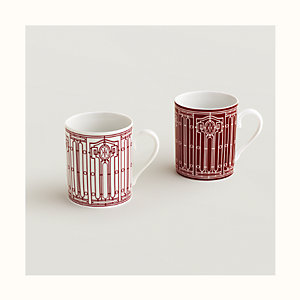 Set mit 2 Kaffeebechern H Déco rouge