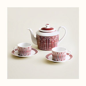 H Deco rouge tea set