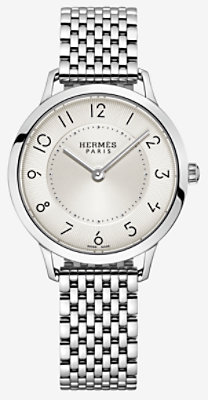 Slim d'Hermes watch, medium model 32 mm - W041707WW00