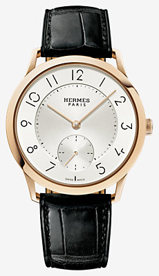 Slim d'Hermes watch, large model 39.5 mm -