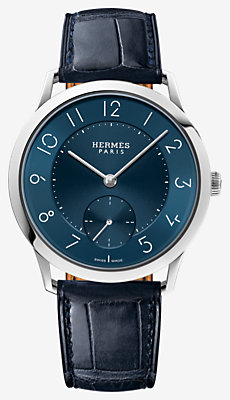 Slim d'Hermes watch, 39.5 mm -