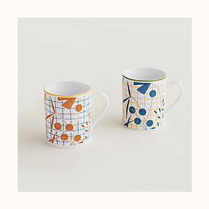 A Walk in the Garden set of 2 mugs