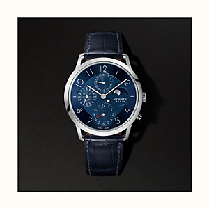 Slim d'Hermes Quantieme Perpetuel watch, 39.5 mm