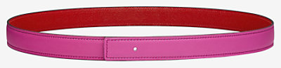 Reversible leather strap 24 mm -