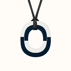 Isthme colorblock pendant, large model