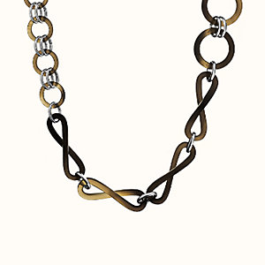 Twist long necklace