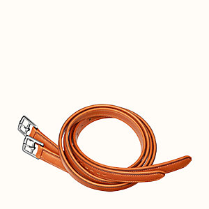 Lined stirrup leathers