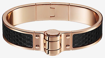 Leather hinged bracelet -