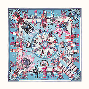 Kachinas wash scarf 90