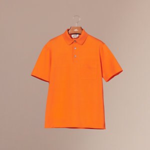 H embroidered buttoned polo shirt