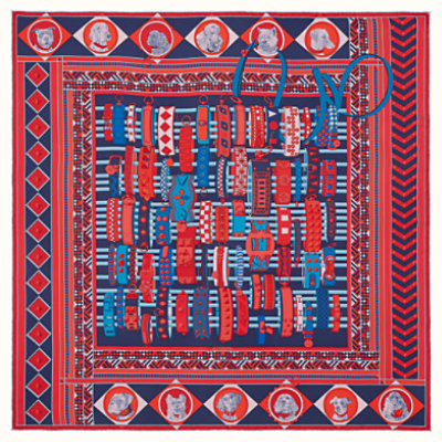 Colliers et Chiens wash scarf 90