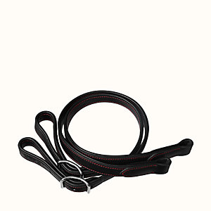 Pair of dressage single-strap stirrup leathers