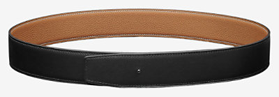 Reversible leather strap 38 mm -