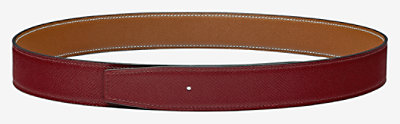 Reversible leather strap 32 mm -