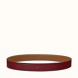 Reversible leather strap 32 mm