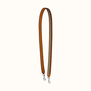 Tressage cuir hexagone 25 mm bag strap