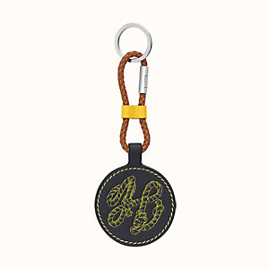 Bicolor H Tattoo key ring