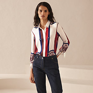 """Brandebourgs encadre"" classic cropped shirt"
