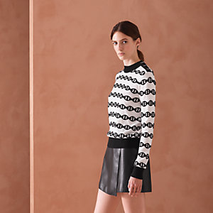 """Chaines d'Ancres bicolores"" sweater with buttoned shoulder"