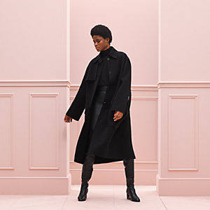 Supple trench coat