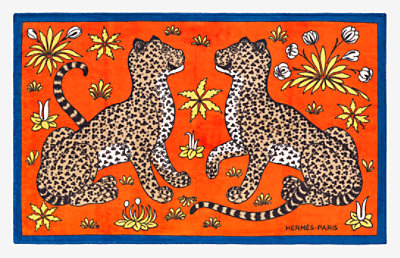 Leopards beach towel -