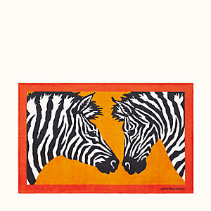 Zebra Twins beach towel