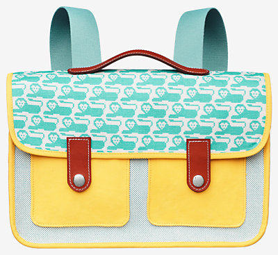 Animaux Pixel school bag -
