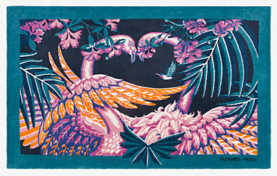 Tapis de plage Flamingo Party -