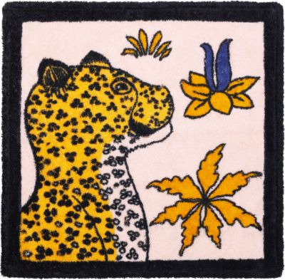 Leopards square beach towel