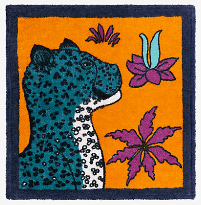 Leopards square beach towel -