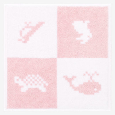 Animaux Pixel wash cloth -