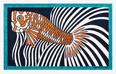 Dancing Fish beach towel -