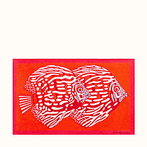 Poissons Duo beach towel