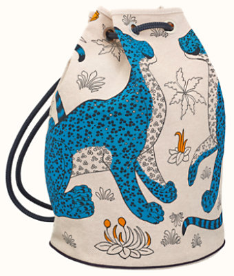 Les Leopards bucket bag