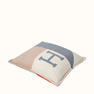 H Drapeau pillow