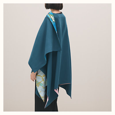 Silk and cashmere cape