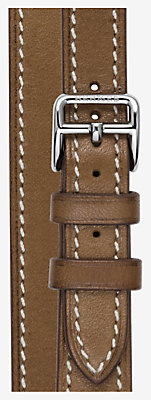 Heure H Watch Strap Double Tour, 21 x 21 mm, long -