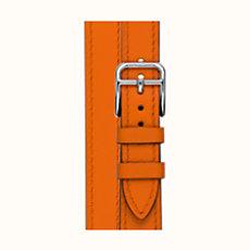 Bracelet pour Heure H, 21 x 21 mm, double tour, long - W107ISWWK93 d4d73456806